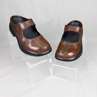 Dansko Mary Jane Shoes Womens Size 36 EU Brown Leather Slip On Clogs Mules