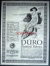 1921 DURO 'Fadeless Fabrics' Ladies Clothing ADVERT - Small Fashion Print Ad