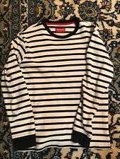 Supreme black and white striped long sleeve