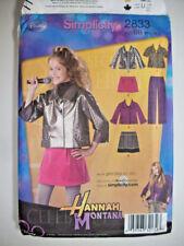 Jacket pants mini skirt Hannah Montana  pattern 2833 UNCUT 8 10 12 14 16 plus