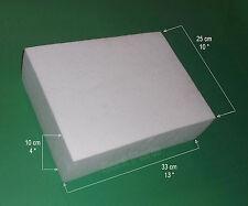 """POLYSTYRENE STYROFOAM EPS BLOCK 330mm(13"""")x250mm(10"""")x100mm(4"""") Polystyrol-Block"""