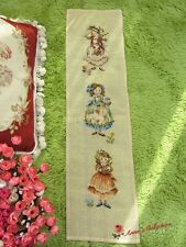"Preworked Needlepoint Woollen Embroidery Canvas Tapestry~Little Girls~8""*31""~"