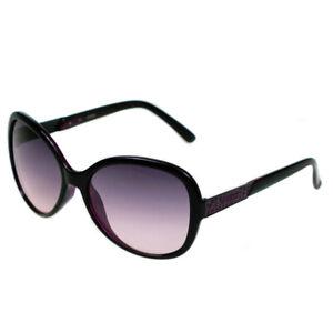 Guess Ladies Designer Sunglasses Black Frame & Purple Gradient Lens GU7207