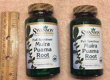 (2) Muira Puama Root, from Swanson >>> 180 capsules (total),  400 mg each