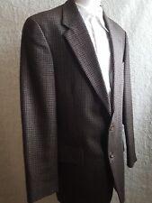 RALPH LAUREN Men's 40L Sport Coat Jacket Brown Houndstooth Wool 2 Button