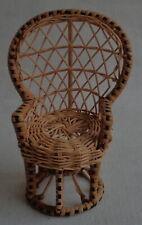 vintage FLEUR pop basketwork armchair 21cm rotan stoel DUTCH SINDY DOLL chair