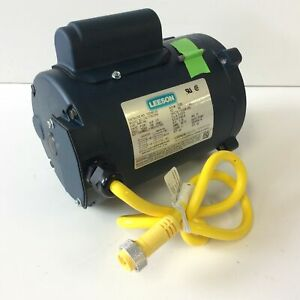 Leeson 103583.00 Electric Motor 1/3HP 1PH 1725RPM S56C Frame 115/208V C4C17NC35A