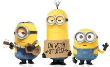 """Minions Movie I'm With Stupid Iron On Transfer, 5"""" x 8"""" for LIGHT Colored Fabric"""