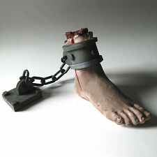 Human Foot on Chain Body Parts Dungeon Haunted House Halloween Party Prop
