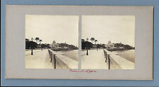 1880s STEREOVIEW old Real Photo BRAZIL Praia da Lapa / RIO JANEIRO 19th cent
