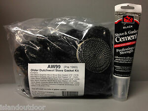 Perkins AW 99 Dutchwest Stove Gasket Kit Pre 1993 Vermont Castings GK-99 cement