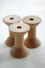 12 Medium Size Wooden Thread Spools - Crafts - Bird Toy - Thread
