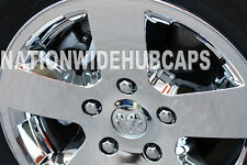 "4 DODGE RAM 1500 17"" CHROME Wheel Skins Hub Cap Covers fit 5 Spoke Aluminum Rim"
