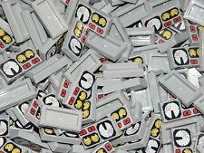 LEGO 20 x GREY PRINTED CONTROL PANEL FLAT PLATE BRICKS  1x2 PIN