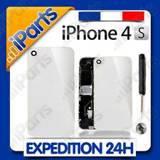 VITRE ARRIERE BLANCHE SUR CHASSIS IPHONE 4S