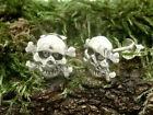 Calavera Pendientes de plata 925 2 piezas Jolly Roger Cráneo