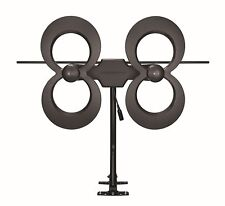 Antennas Direct ClearStream 4MAX UHF/VHF Indoor/Outdoor HDTV Antenna Black New