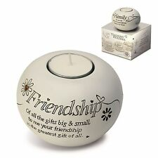Said With Sentiment 7303 Friendship Tealight Holder