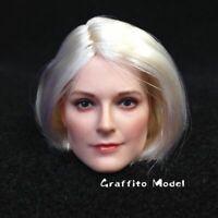 DSTOYS D-OO1A 1/6 European Female Head Carving Beauty Head Sculpt F 12'' ph Body