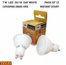 12 X  GU10  7W  £1.65 each ECOLA LED  Reflectors  Spot Light Bulb  DAY WHITE