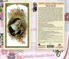Prayer to St Rita - Saint of the Impossible - Laminated Holy Card