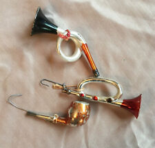 Blown glass figural Christmas ornaments
