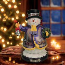 Thomas Kinkade Figurine - Christmas Welcome Snowman New Item 1513888011 COA