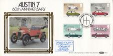 (09602) CLEARANCE GB Benham FDC BLS7 Cars Austin 7 CARRIED Birmingham 1982