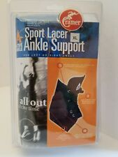Sport Lacer Ankle Support for Left or Right Ankle: White Size Extra Large Cramer