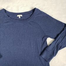 I Love H81 Blue Sweater Long Sleeve Boat Neck Polycotton Rayon Womens Small