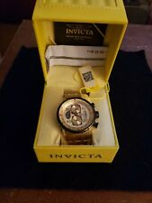 Invicta Men's Watch Aviator Chrono Gold Tone 1720 For Parts. Not Working.