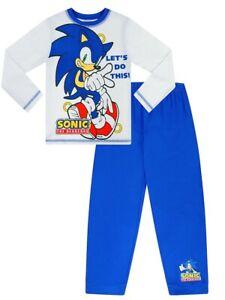 Sonic The Hedgehog Long Blue White Pyjamas