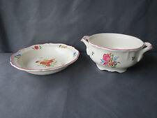 Antigua sopera y ex plato de cerámica de St Amand art pop french antiguo