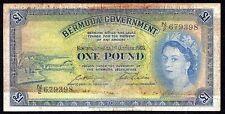 Bermuda 1 Pound 1966  P-20d   (Prefix N2)