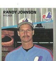 1989 FLEER RANDY JOHNSON MARLBORO SIGN #381 ERROR VARIATION SHARP CORNERS/EDGES