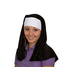 Nun Adult Hat Costume Sister Abbey Black White Act Cap Christian Catholic Habit