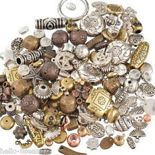 100g HOT Mixed Old Gold Silver Brown Acrylic Plastic Beads Jewellery