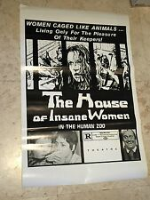 The HOUSE of INSANE Women - Grindhouse Horror B Rate camp Movie Promo Poster