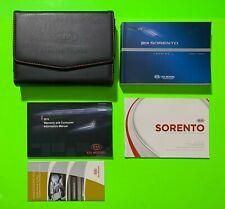 New listing 2014 Kia Sorento Owners Manual Set & Case *Oem*