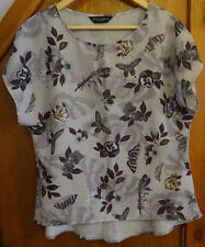 Dorothy Perkins Butterfly Print Blouse 12