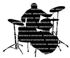 Die Cut Silhouette DRUMMER / SET OF DRUMS x 6 for cardmaking & Craft Projects