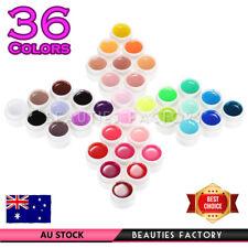 36 Vivid Solid Color UV Gel Set (5ml) & Gel Brush Essential Nail Extension 3071