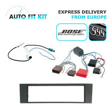 Audi A3  2003- 1 Din Single DIN Fascia BOSE Radio Stereo Replacement Kit Fascia