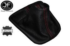 RED STITCH FITS SEAT IBIZA CORDOBA 2002-2008 SHIFT BOOT REAL BLACK LEATHER