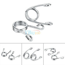 """2PCS Silver 3.5"""" Chrome Solo Seat Springs For Harley Chopper Bobber Motorcycle"""