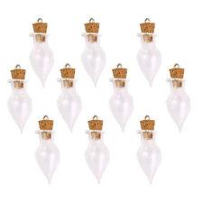 10 Glasflaschen Korken Tropfen Glaeser Flasche DIY Anhaenger Charme A1G3