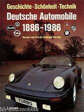Buch Deutsche Automobile 1886-1986 Rallye Kadett BMW 745i M1 VW Golf GTI I 411