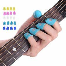 Guitar Thumb Picks Finger Protection Cap Plectrum Thin Silicone 12 Pcs Set S M L