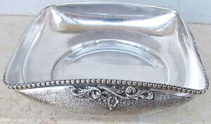 ART DECO GUILLOCHE SILVER 800 CANDY SWEET BOWL 163gr. HAND CRAFTED ENGRAVING