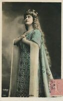 Yvonne Dubel Hand Colored Reutlinger Real Photo Postcard - French Actress - 1905